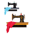 Sewing machine silhouette vector image vector image