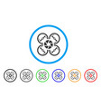 shutter drone rounded icon vector image vector image