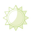 silhouette shine sun to spring to natural weather vector image