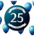 Silver number twenty five years anniversary vector image vector image