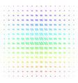 sinusoid waves shape halftone spectrum effect vector image vector image
