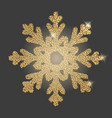 snowflake with gold glitter texture vector image vector image