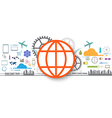social icon internet of things vector image vector image