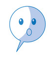 speech bubble confused comic character vector image