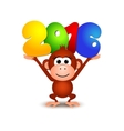 Symbol New Year 2016 Monkey Postcard Happy New vector image