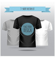 t-shirt set white grey black template front vector image