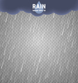 Transparent Rain Image Cloudy background vector image