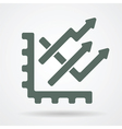 Trend chart web icon