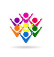 unity people business logo vector image vector image