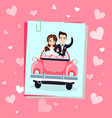 valentine holiday groom and bride photo vector image vector image