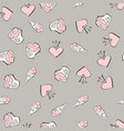 valentines day seamless pattern with red vector image vector image