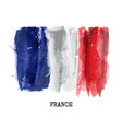 watercolor painting flag of france vector image