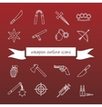 weapon outline icons vector image vector image