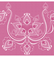 White lace on pink seamlees pattern for vintage vector image vector image