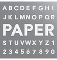 white paper alphabet with shadow eps10 vector image