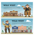wild west cowboy character saloon western vector image vector image