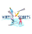 winter sports concept vector image vector image
