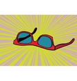 Womens red sunglasses vector image