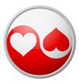 Yin-yang heart symbol vector image vector image