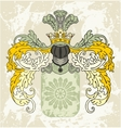 Medieval coat of arms with knight helmet vector image