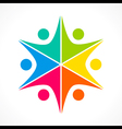 creative colorful teamwork icon design concept vector image