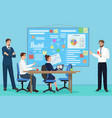 concept of the coworking center business vector image