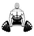 muscle man bodybuilder vector image