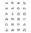 Transport Line Icons 4 vector image