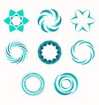 abstract geometric shapes symbols for your design vector image vector image