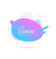 abstract shape design liquid fluid elemend vector image vector image