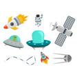 astronaut space landing planets spaceship future vector image vector image