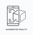 augmented reality flat line icon outline vector image