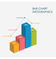 bar chart infographics elements 3d sign vector image vector image