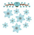 beautiful flowers vector image