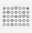 big set smiles faces collection smile icon symbol vector image vector image