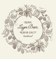 black and white round wreath frame composition vector image vector image