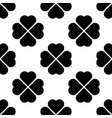 black shamrock seamless pattern background of vector image