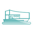 boat tourist shadow vector image vector image