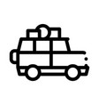 camping car with luggage icon outline vector image vector image