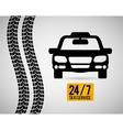 Car taxi icon Public transport design Taxi cab vector image
