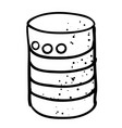 cartoon image of database icon vector image