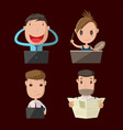 cartoon people lifestyle character set vector image vector image