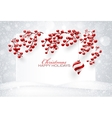 Christmas Red Decorations vector image vector image