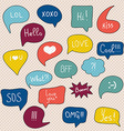 Comic speech bubbles set vector image vector image