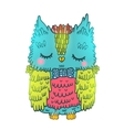 cute cartoon owl animal vector image vector image