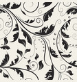 delicate ornamental swirl leaves vector image vector image