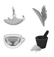 design spice and ingredient symbol set vector image vector image