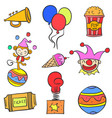 doodle of circus colorful element vector image vector image