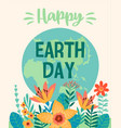 earth day template for card poster vector image vector image