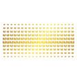 family child golden halftone matrix vector image vector image